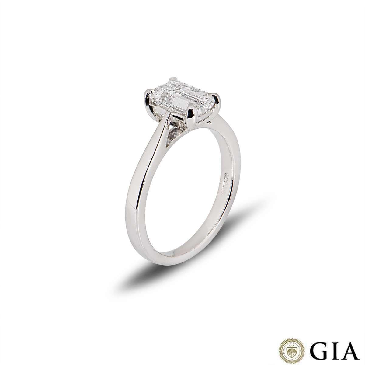 Platinum Emerald Cut Diamond Ring 1.50ct E/VVS2